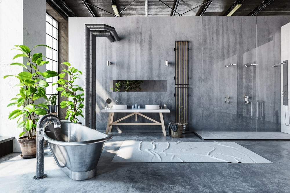 Bathroom trends concrete pic